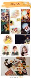 Harry Potter postcards by MarinaMichkina