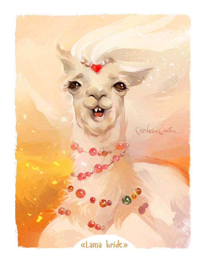 Lama bride by MarinaMichkina