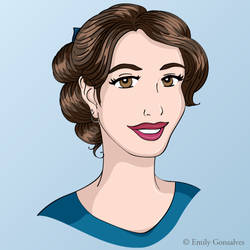 Vector Self-Portrait by Lanisatu