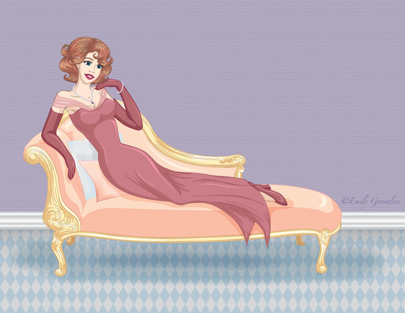 Classy on a Chaise by Lanisatu