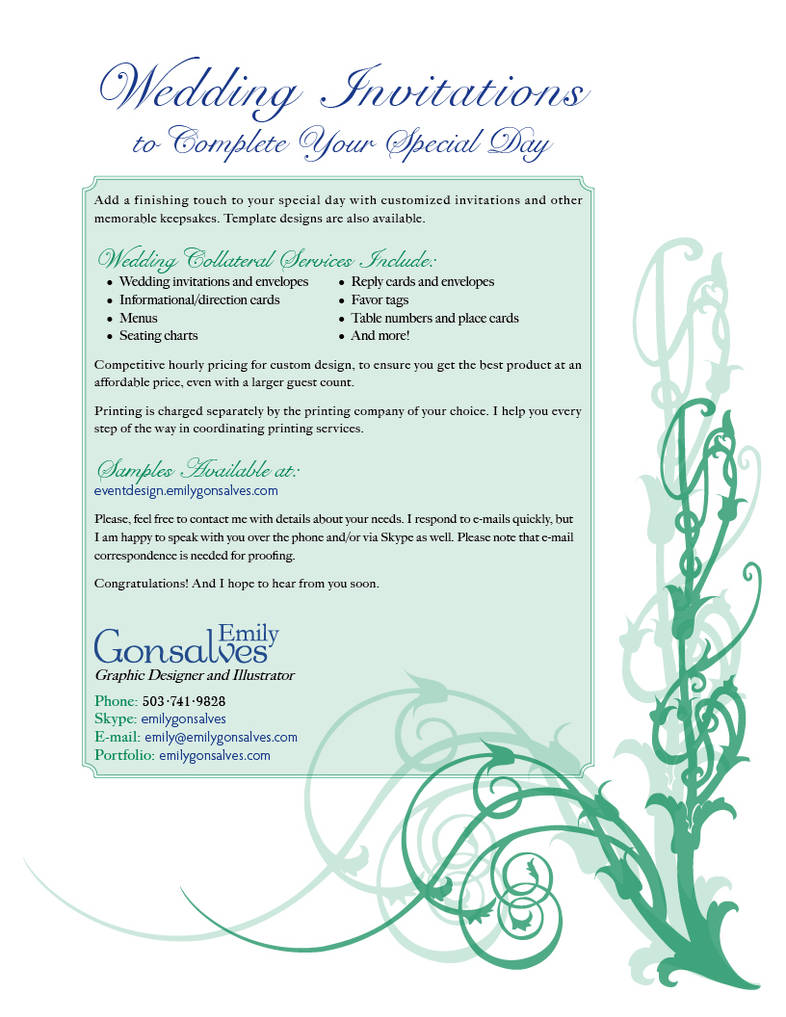 Wedding Collateral Services