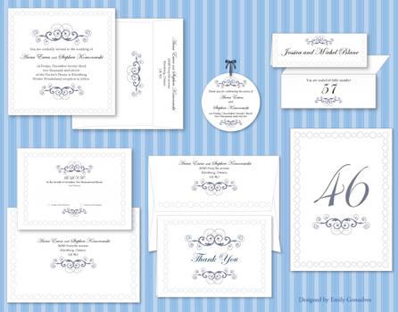 Winter Wonderland Wedding Set by Lanisatu