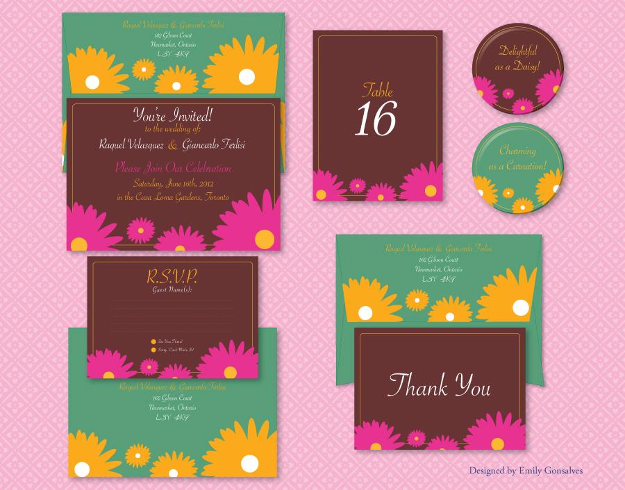 Spring Blooms Wedding Set by Lanisatu