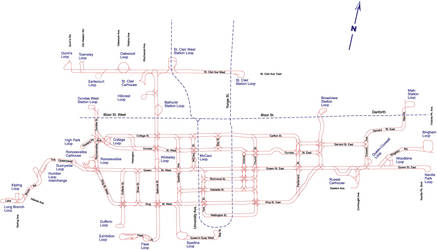 TTC Surface Route Map by Lanisatu