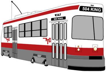 TTC Streetcar by Lanisatu