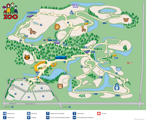 Toronto Zoo Map by Lanisatu on DeviantArt