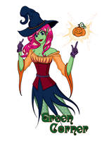 Green Corner Hallowe'en Art by Lanisatu