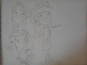 Equestria Girls - Twily, Rarity And AJ
