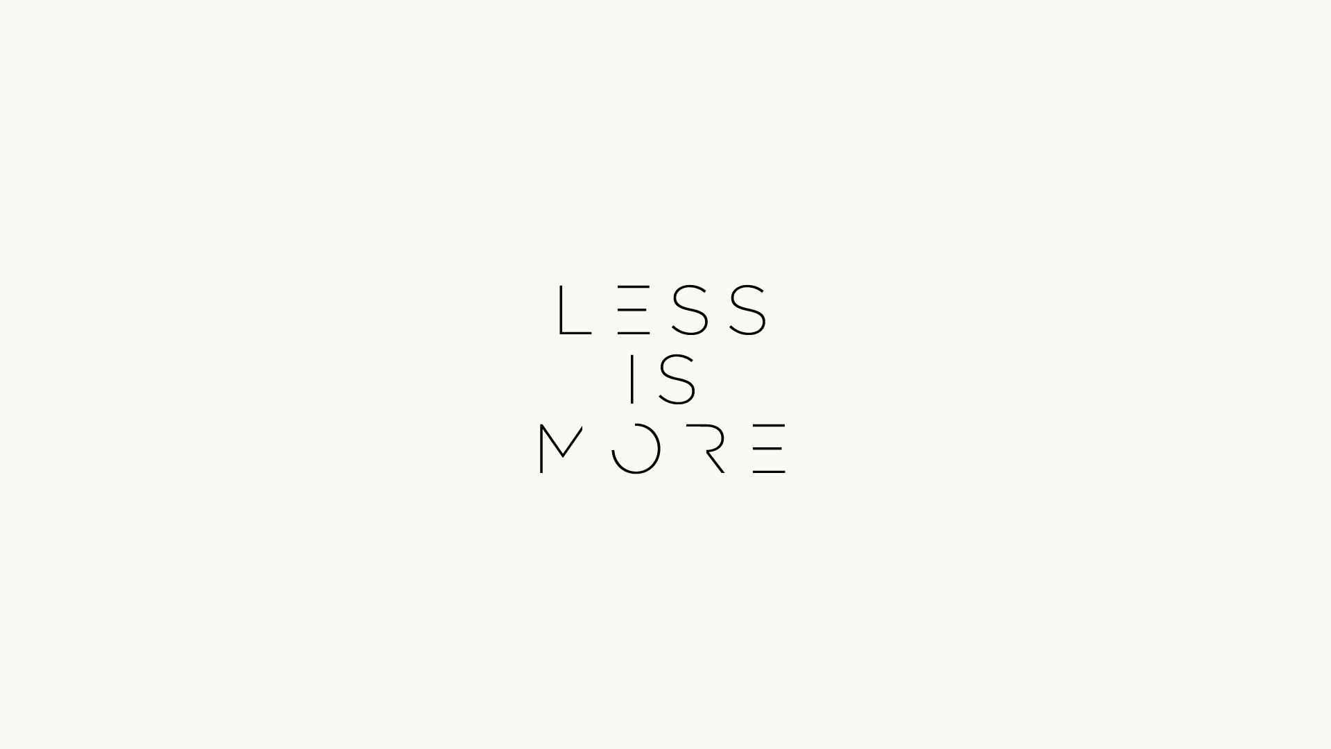 Less is more by ausman101 on deviantart for Wallpaper for less