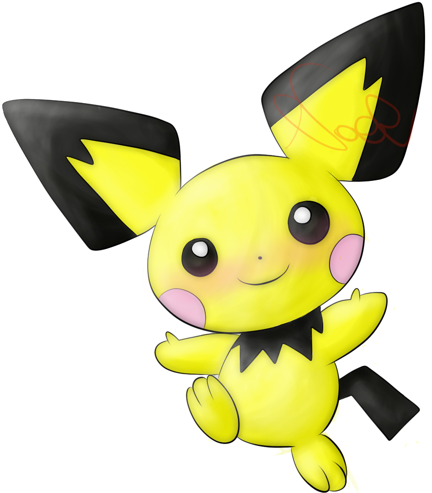Pichu-Coloured Lineart by Noel-TF on DeviantArt