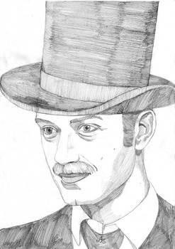 Portrait of Jude Law as Dr. John Watson