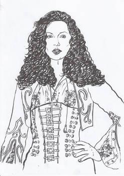 Portrait of Kate Beckinsale in movie Van Helsing