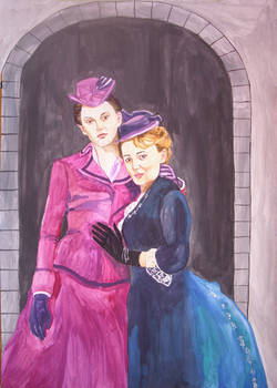 Portrait of main characters in Tipping the velvet