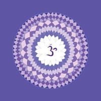 violet chakra mandala (Sahasrara)