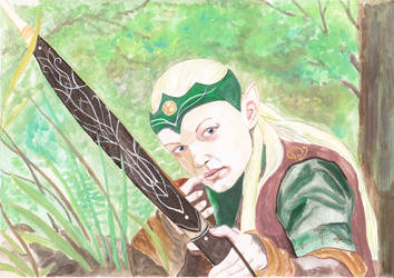 Larp character portrait - female forest elven