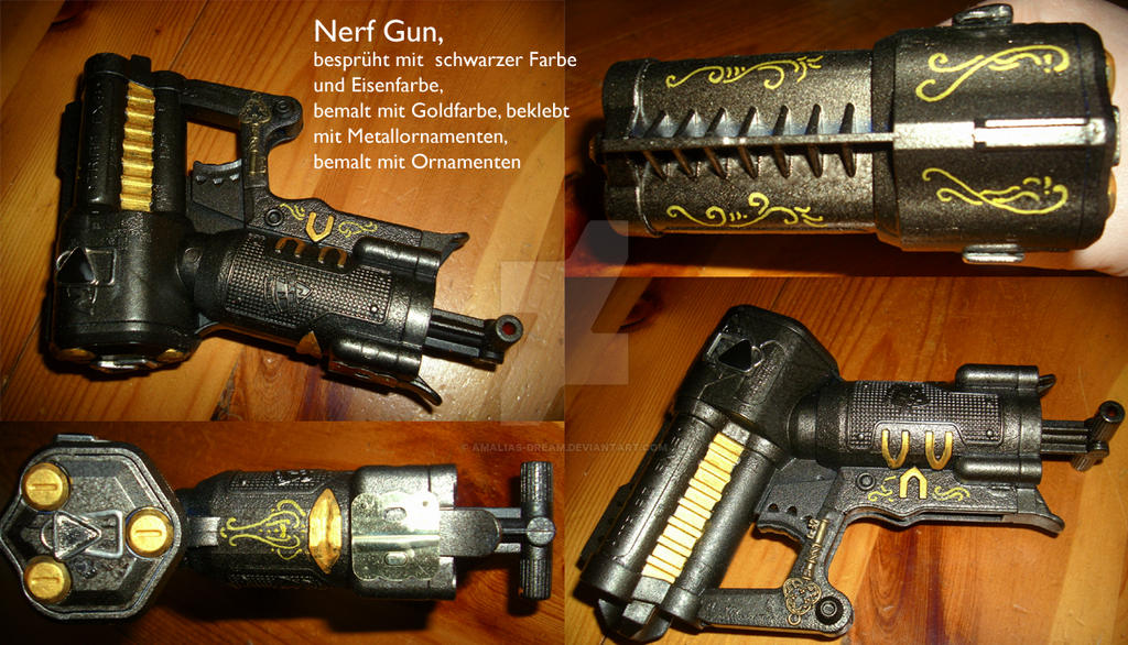 Steampunk Nerf Gun 1 by Amalias-dream
