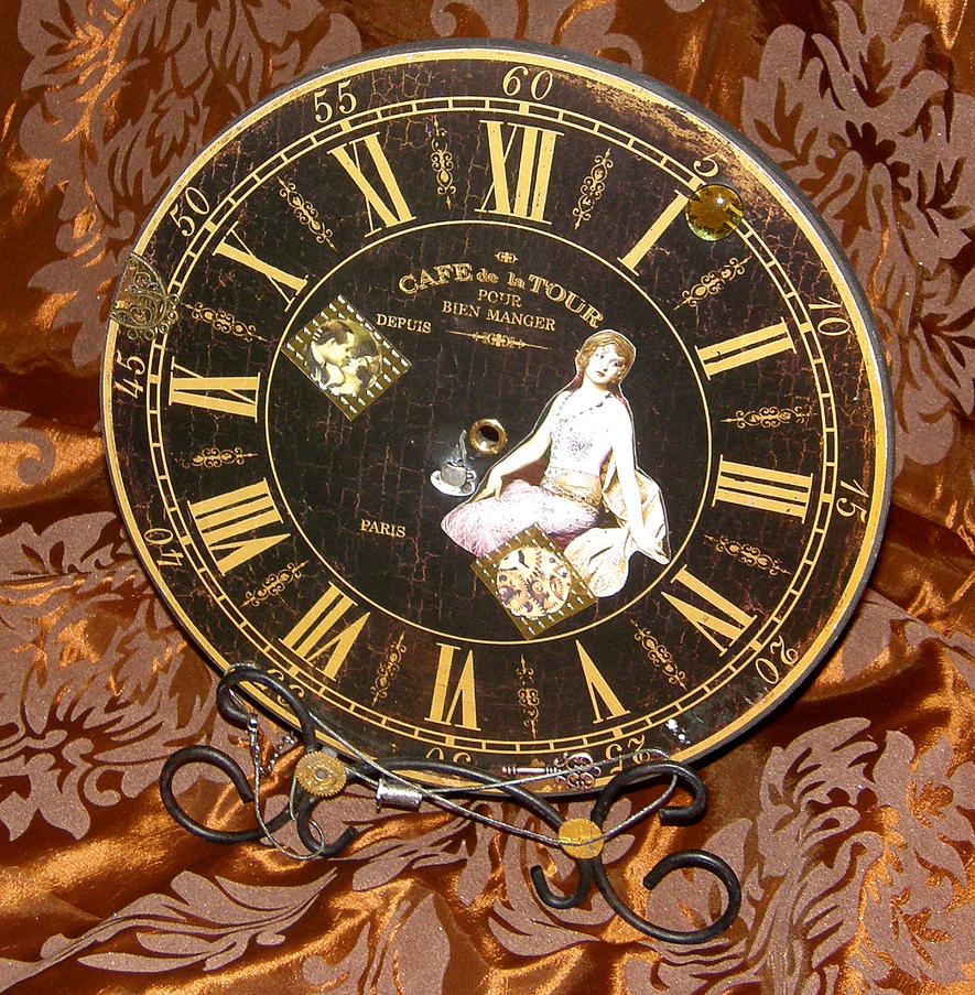 upcycling Steampunk decorative clock by Amalias-dream