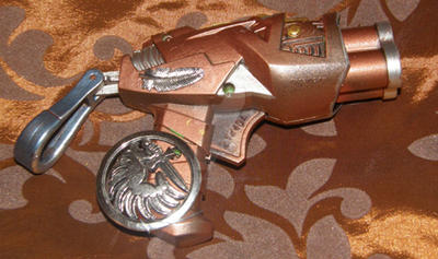 Amalias secret pocket pistol - Steampunk Nerf Gun by Amalias-dream