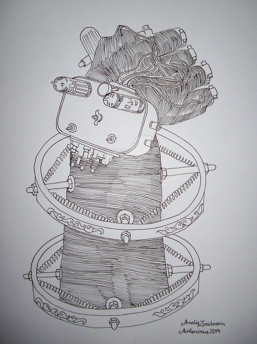 mechanical Steampunk hand object by Amalias-dream
