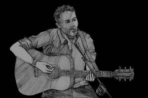 Connor spielt Gitarre und singt im Paddy's