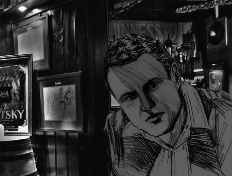 Brendon im Pub