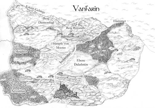 Map for the fantasy country Vanfarin