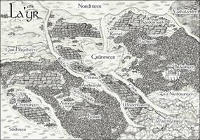 Fantasy-Landkarte: La'yr