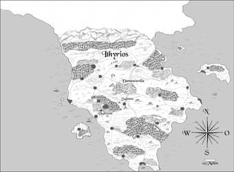 Fantasy-Landkarte Ithyrios