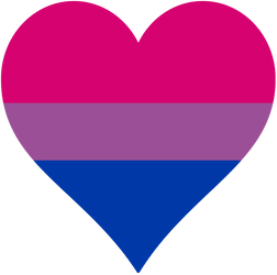 Bisexual Pride Heart