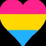 Pansexual Pride Heart