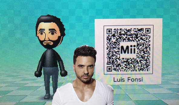My own made Luis Fonsi Mii (QR CODE INCLUDED)