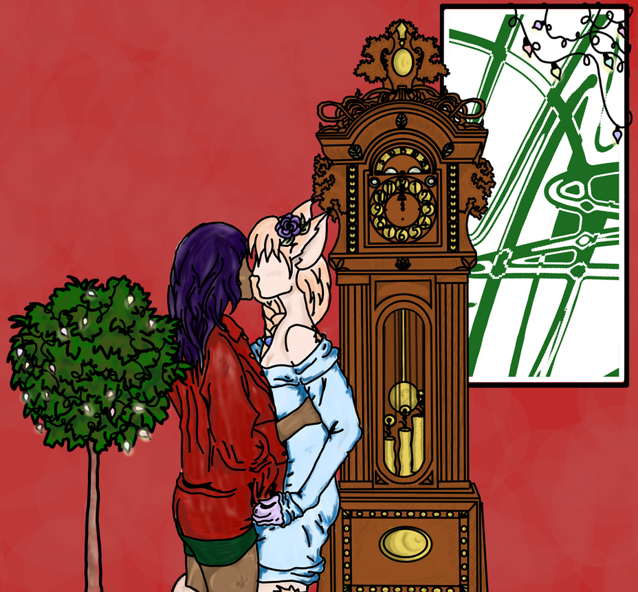 Midnight kiss  by MamaFaithful