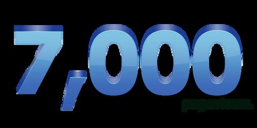 7,000+ pageviews