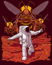 Killer Bees on Mars by JCMaziu