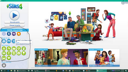 Menu Up To Date Sims4