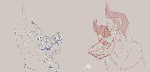 Malfurion Sketches by K0NIGWULF