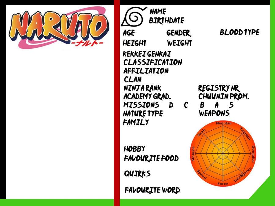 Naruto OC ID template by RonnieSilverlake on DeviantArt