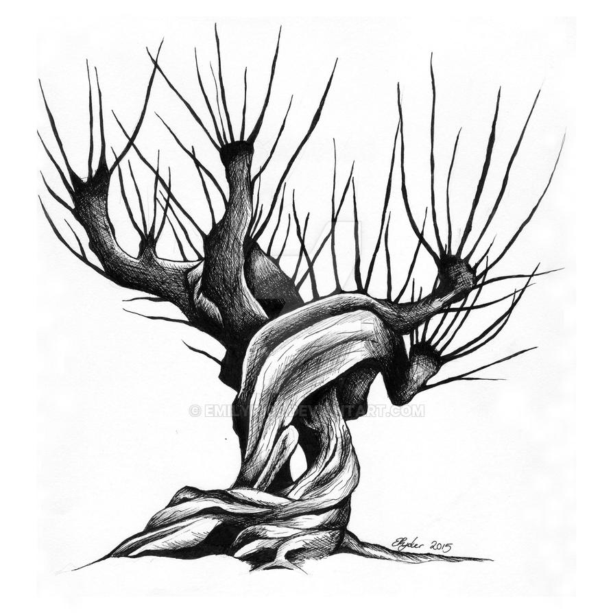 how to draw the whomping willow