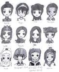 A:TLA Girls- Chibis