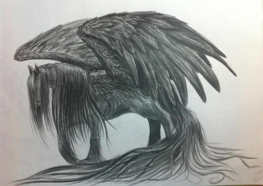 Black Pegasus Drawing Black pegasus by swanplBlack Pegasus