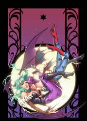 Darkstalkers Morgan and Lilith by CeeCeeLuvins