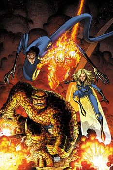 Art Adams Fantastic Four Cover