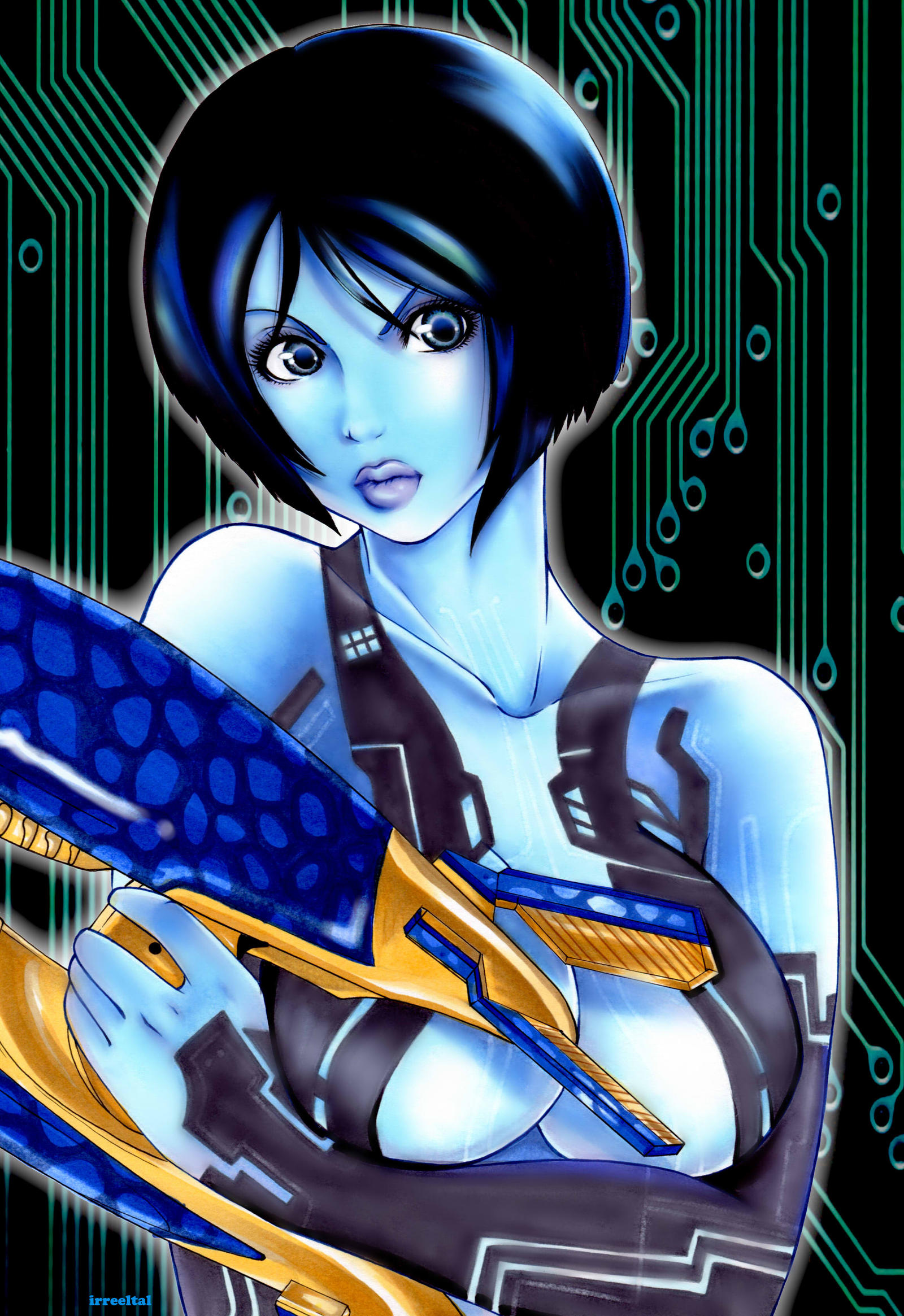 Cortana Halo 4 by Irreeltal