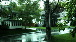 Stopping a while to watch a rainy intersection by herbalcell