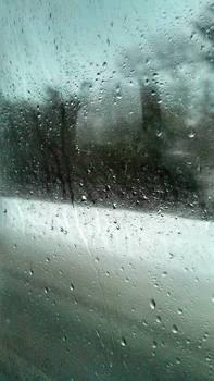 Blurred winter landscape