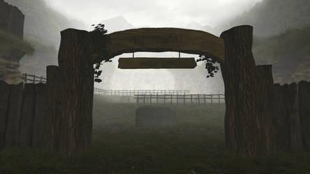 Ocarina of Time graveyard at dawn
