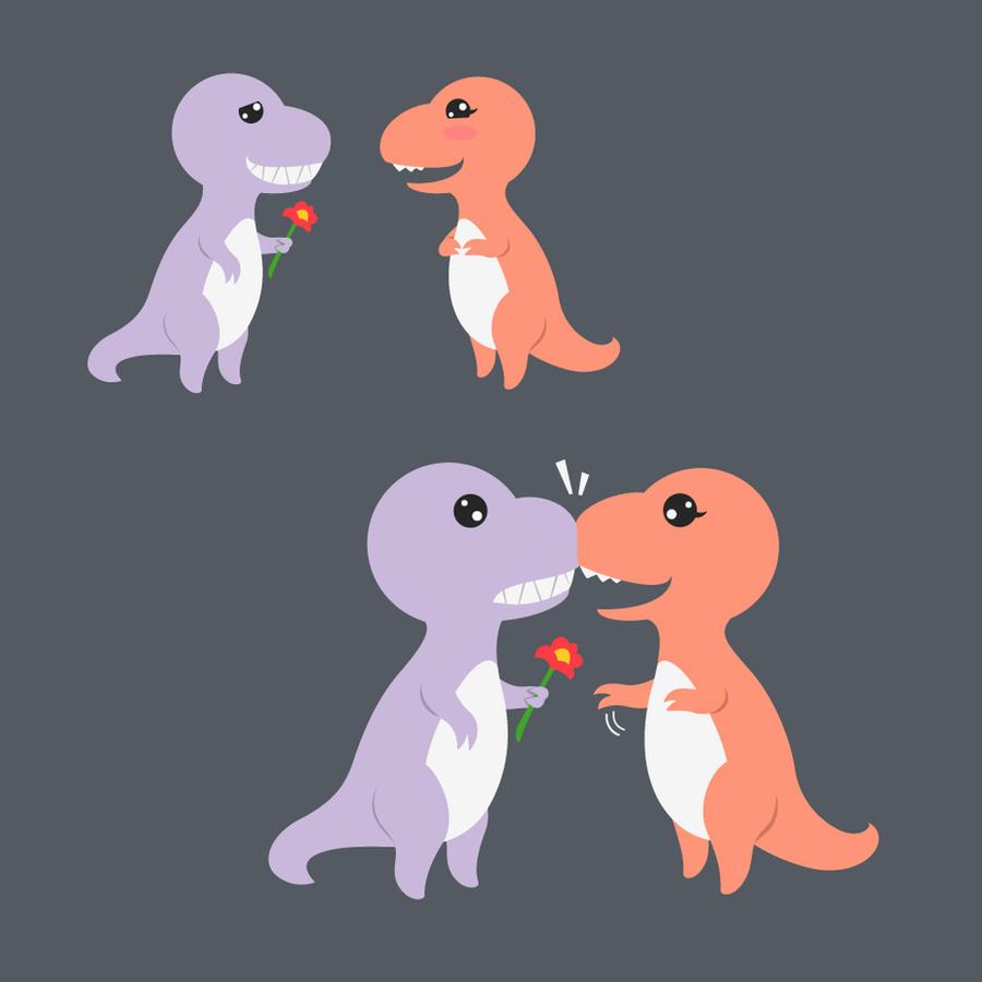T-rex's Valentine by temperolife