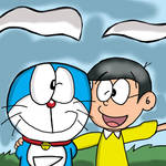 Doraemon and Noby