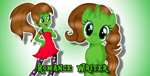 EG and Pony Romance Writer by DoraeArtDreams-Aspy