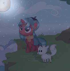 Pony Hilda and Twig by DoraeArtDreams-Aspy